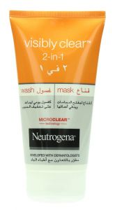 Neutrogena Visibly Clear 2 In 1 Wash Mask 150Ml |?sultan-center.com????? ????? ???????