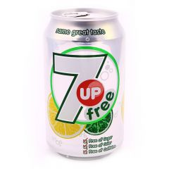 7 Up Free Soft Drink Can