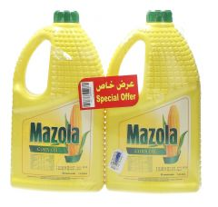 Mazola 100% Pure Corn Oil 1.8L X 2Pcs |?sultan-center.com????? ????? ???????
