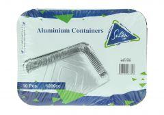 Sultan Aluminum Containers 1200 Cc 10Pcs |?sultan-center.com????? ????? ???????