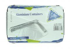 Sultan Aluminum Containers 1980 Cc 10Pcs |?sultan-center.com????? ????? ???????
