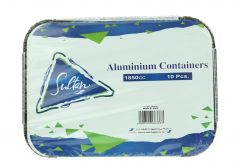 Sultan Aluminum Containers 1850 Cc 10Pcs | sultan-center.com مركز سلطان اونلاين