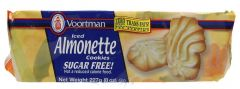 Voortman Sugar Free Iced Almonette Cookies  257g |?sultan-center.com????? ????? ???????