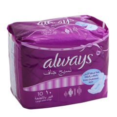 Always Dry Weave Large With Wings Sanitary Pads 10Pcs |?sultan-center.com????? ????? ???????