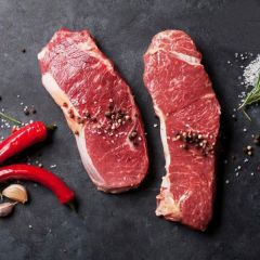 New Zealand Striploin Beef whole vacuum pack