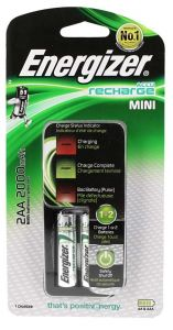 Energizer Charger With Rechargeable AA Batteries