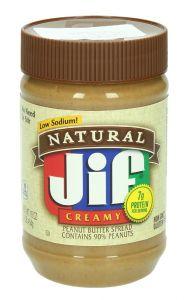 Jif Low Sodium Creamy Peanut Butter 454G |?sultan-center.com????? ????? ???????