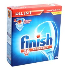 Finish All In 1 Fizzing Action Powerball Dishwasher Tablets