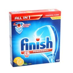 Finish Lemon Fizzing Action Powerball Dishwasher Tablet   42Pcs |?sultan-center.com????? ????? ???????