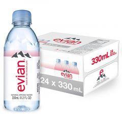 Evian Mineral Water Bottle  330Ml X 24Pcs |sultan-center.comمركز سلطان اونلاين