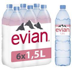 Evian Mineral Water  1.5L X 6Pcs |sultan-center.comمركز سلطان اونلاين
