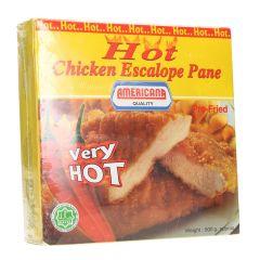 Americana Pre Fried Hot Chicken Escalope Pane  500G |sultan-center.comمركز سلطان اونلاين