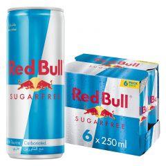 Red Bull Energy Drink Sugar Free Pack of 6