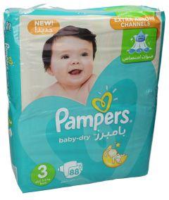 Pampers Active Baby Mega Pack (Size 3) Medium 5-9KG