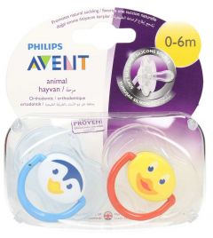 Philips Avent Animal 0-6Months Soothers 2pcs |?sultan-center.com????? ????? ???????