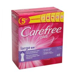 Carefree Plus Large Panty Linters