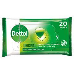 Dettol Original Anti Bacterial Skin Wipes 20Pcs 20pcs |?sultan-center.com????? ????? ???????