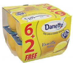Danette Vanilla Pudding 6+2 Free