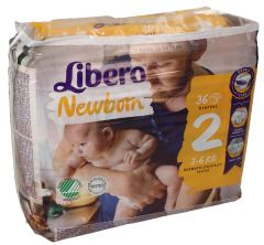 Libero Slim Fit Diapers Size 2 3-6KG