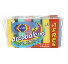 Corazzi Arcobaleno Anti-Bacterial Protection Sponge  4pcs + 1free |?sultan-center.com????? ????? ???????