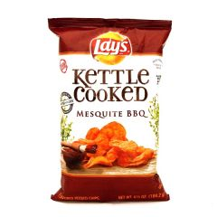 Lays Kettle Cooked Mesquite Bbq Potato Chips