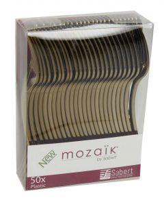 Mozaik Gold Mini Plastic Fork