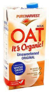 Pure Harvest Organic Unsweetened Original Oat Milk 1L  ?sultan-center.com????? ????? ???????