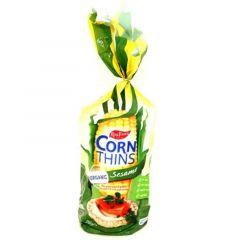 Real Foods Organic Gluten-Free Sesame Corn Thins  150G |?sultan-center.com????? ????? ???????