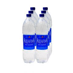 Aquafina Pure Drinking Water Bottle  1.5L X 6Pcs |?sultan-center.com????? ????? ???????