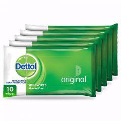 Dettol Original Anti-Bacterial Skin Wipes  10Wipes X 5Pcs  sultan-center.comمركز سلطان اونلاين