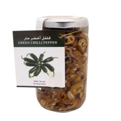 Farmers Market Hot Green Chilli Pickles Jar  250G  sultan-center.comمركز سلطان اونلاين