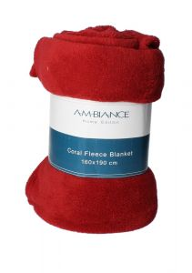 Ambiance Coral Fleece Blanket 160x190cm |?sultan-center.com????? ????? ???????