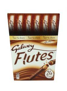 Galaxy Flutes chocolate Crispy Wafer Rolls  11.25G X 24  |?sultan-center.com????? ????? ???????