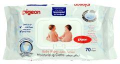 Pigeon Baby Wipes 70Pcs |?sultan-center.com????? ????? ???????
