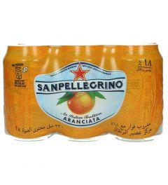 San Pellegrino Orange Sparkling Drink  330Ml X 6 Cans  ?sultan-center.com????? ????? ???????