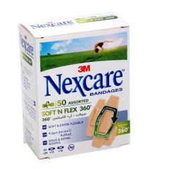 Nexcare Soft 'N Flex 360 Assorted Bandages  50Pcs |?sultan-center.com????? ????? ???????