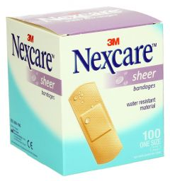 Nexcare Sheer Bandages  100Pcs |?sultan-center.com????? ????? ???????