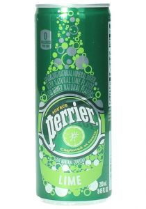 Perrier Sparkling Natural Mineral Water Lime Flavor Can 250Ml |sultan-center.comمركز سلطان اونلاين