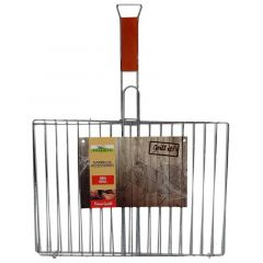 Paradiso Double Chrome Grid With Wooden Handle