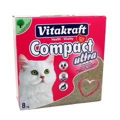 Vitakraft Compact Ultra Clumping Cat Litter 8Kg |?sultan-center.com????? ????? ???????