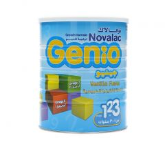 Novalac Genio Growth Formula Vanilla Flavored Powder Milk 1-3 Years 800G |?sultan-center.com????? ????? ???????