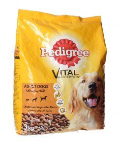Pedigree Chicken & Vegetable Flavor For Adult Dog Food 3kg |?sultan-center.com????? ????? ???????
