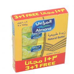 al Marai Unsalted Natural Butter  100G X  3 + 1 Free |?sultan-center.com????? ????? ???????