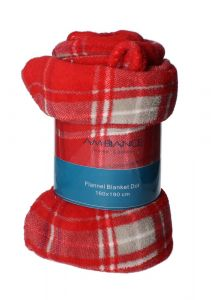 Ambiance Flannel red Blanket 160x190cm |?sultan-center.com????? ????? ???????