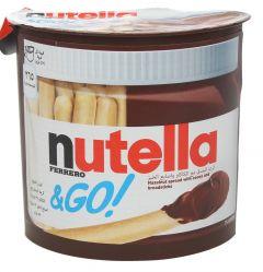 Nutella & Go Hazelnut Spread With Cocoa And Bread Sticks  52G  sultan-center.comمركز سلطان اونلاين