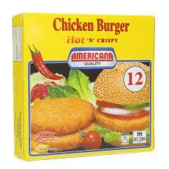 Americana Hot And Crispy Chicken Burger 12 Pcs  678G |sultan-center.comمركز سلطان اونلاين