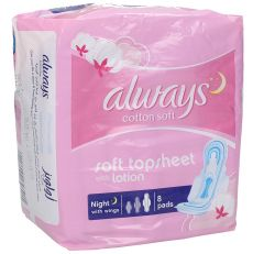 Always Cotton Touch Feel Night Pads With Wings  8Pcs |sultan-center.comمركز سلطان اونلاين