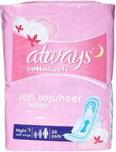 Always cotton soft night pads with wings
