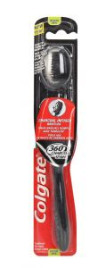 Colgate 360 Charcoal Infused Bristles Medium Toothbrush 1pc |?sultan-center.com????? ????? ???????