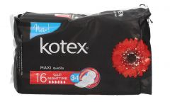 Kotex Maxi Night Time 3In1 Sanitary Pads  16pc |?sultan-center.com????? ????? ???????